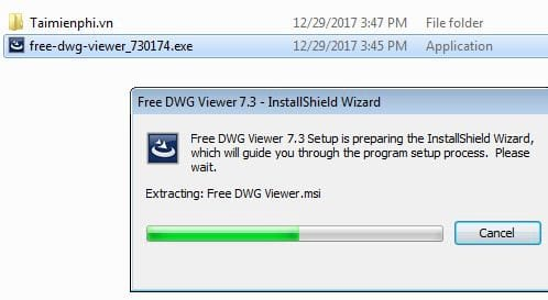 The free dwg viewer on the computer