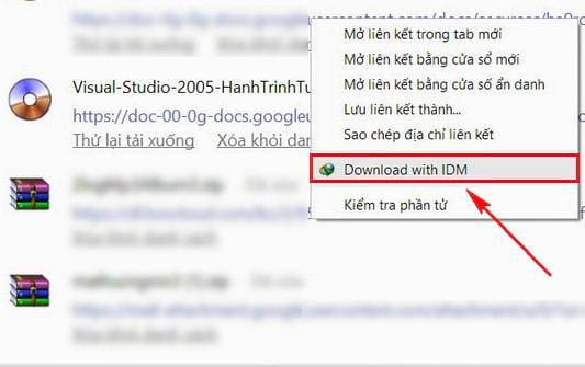 Cách tải file từ Google Drive bằng IDM 2