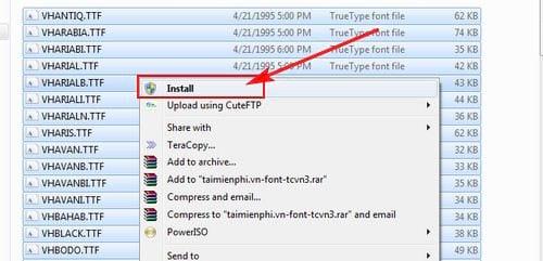 Huong dan cai tcvn3 font on laptop pc