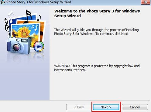 how to install photo story 3 for windows on computer