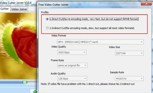 cach dung free video cutter joiner tren pc