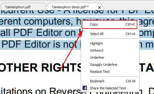 Hướng dẫn copy dữ liệu trong file pdf 5