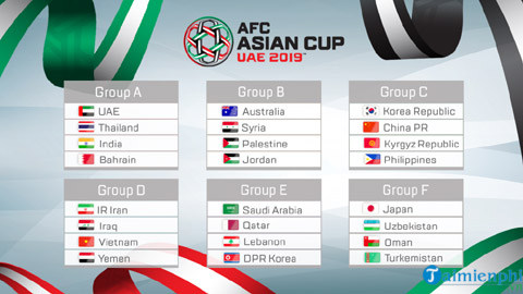 Asian Cup 2019 competition schedule 4