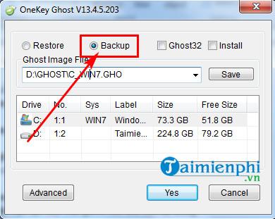 Cách sử dụng Onekey Ghost, tạo file và ghost Windows 7