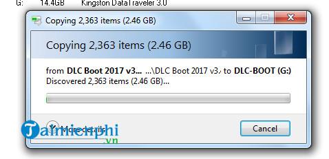 Cách sử dụng DLC Boot, sửa chữa, cứu hộ phần mềm máy tính 7