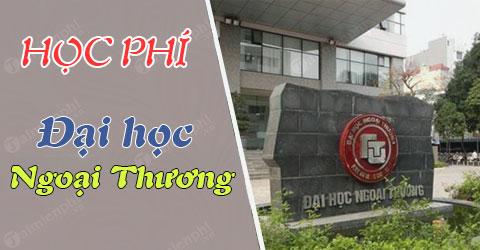 bang hoc phi dai hoc ngoai thuong