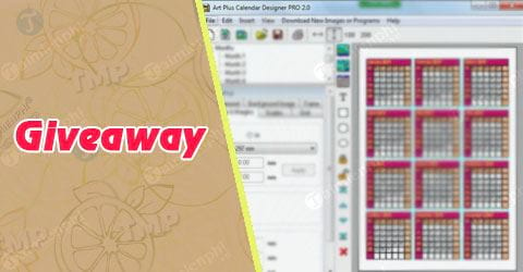 giveaway ban quyen mien phi artplus calendar designer pro tao lich tren may tinh tu 12 4