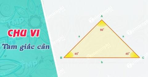 Tính chu vi tam giác cân
