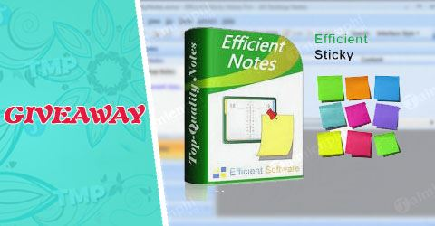 giveaway ban quyen mien phi efficient sticky notes pro tao nhac nho ghi chu