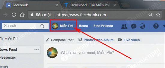 Cách copy link facebook trên máy tính 2