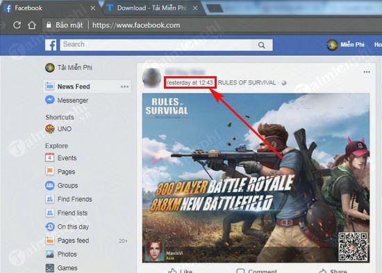Cách copy link facebook trên máy tính 5