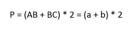 Công thức tính chu vi hình chữ nhật 2
