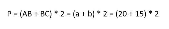 Công thức tính chu vi hình chữ nhật 3