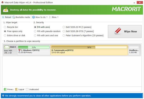 giveaway ban quyen mien phi macrorit data wiper pro 5