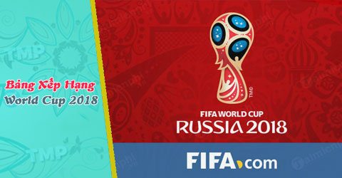 bang xep hang world cup 2018