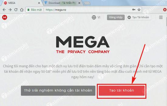 Cách tạo tài khoản Mega upload để up và chia sẻ file 2