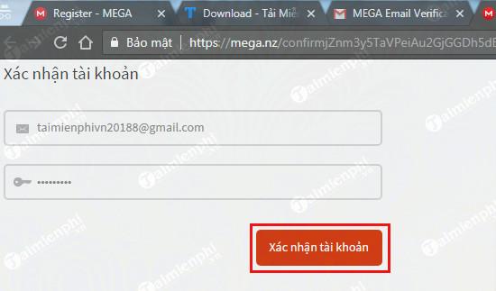 Cách tạo tài khoản Mega upload để up và chia sẻ file 6