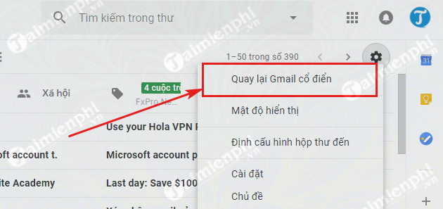 cach quay lai giao dien gmail cu 3