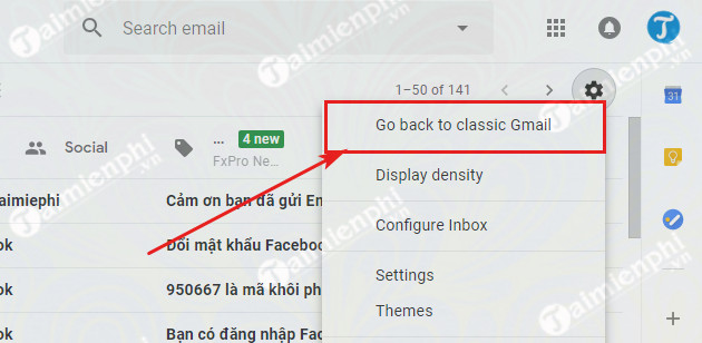 cach quay lai giao dien gmail cu 4