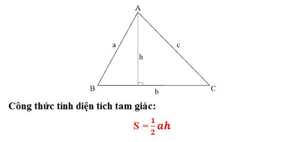 Tổng hợp cách tính, công thức tính diện tích Tam Giác Thường, Vuông, Cân, Đều 2