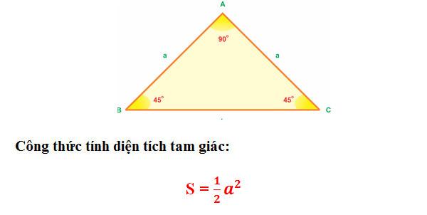 Tổng hợp cách tính, công thức tính diện tích Tam Giác Thường, Vuông, Cân, Đều 6