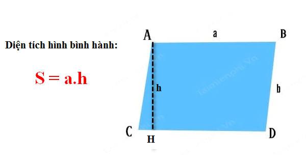 Công thức tính diện tích tứ giác 2