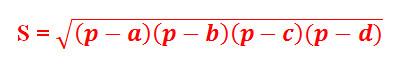 Công thức tính diện tích tứ giác 7