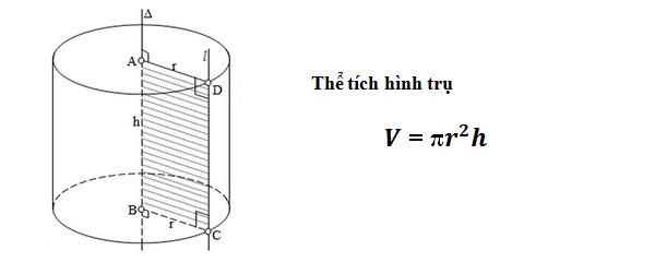 Công thức tính thể tích hình trụ, diện tích xung quanh và toàn phần hình trụ tròn, công thức tính 5