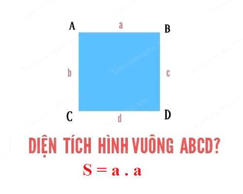 Cách tính diện tích hình vuông, chu vi hình vuông, công thức tính như thế nào 2