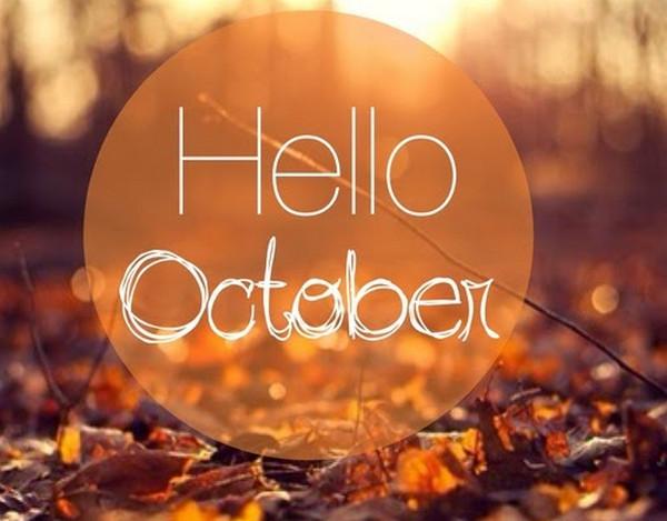 Hình ảnh chào tháng 10 làm STT