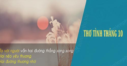 tho tinh thang 10