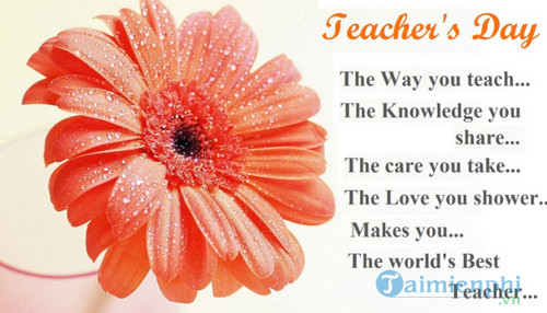Những bài thơ 4 chữ về thầy cô 2