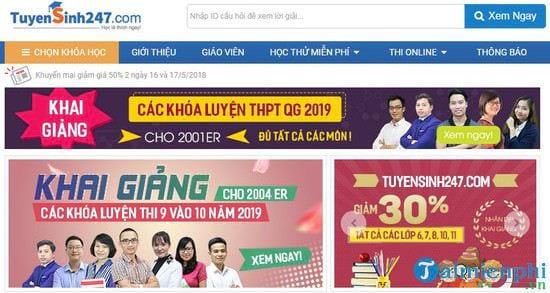 Top những website luyện thi trực tuyến, online Tốt, uy tín cho học sinh