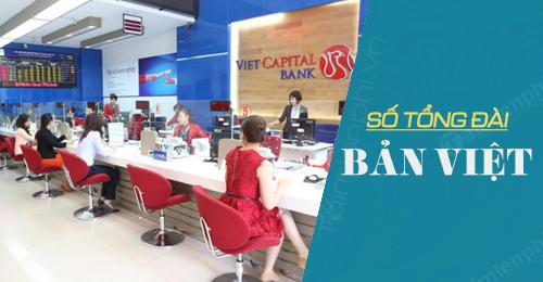 so dien thoai tong dai ban viet viet capital bank