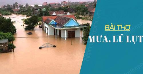 Những bài thơ hay về mưa bão, lũ lụt