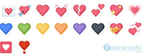 Tổng hợp iCon Facebook trái tim 0