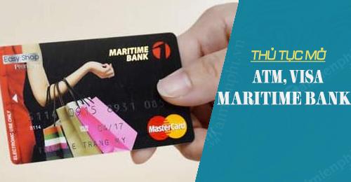 thu tuc mo atm visa maritime bank