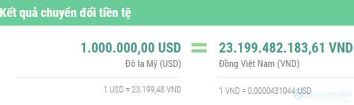 1 triệu USD bằng bao nhiêu tiền Việt Nam? 3