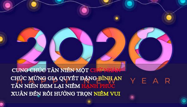 Những thiệp chúc tết đẹp 2020 9