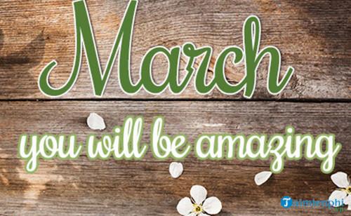 Chào tháng 3, Status, câu nói hay tháng ba 7