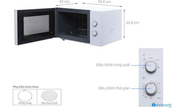 Kích thước lò vi sóng chuẩn, phổ biến 3