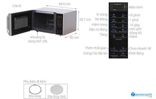 Kích thước lò vi sóng chuẩn, phổ biến 9