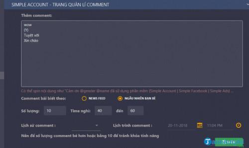 Top Phần mềm tự động gửi tin nhắn, like, comment facebook 4