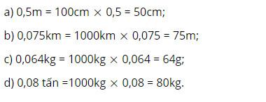 Giải Toán lớp 5 trang 153, 154, Ôn tập về đo độ dài và khối lượng (Tiếp theo)