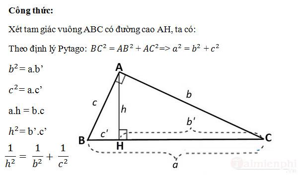 Cách tính đường cao trong tam giác cân, đều, vuông 4