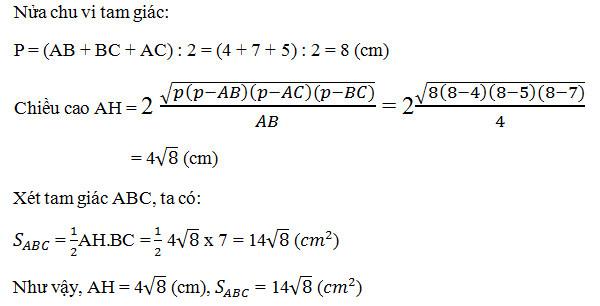 Cách tính đường cao trong tam giác cân, đều, vuông 6