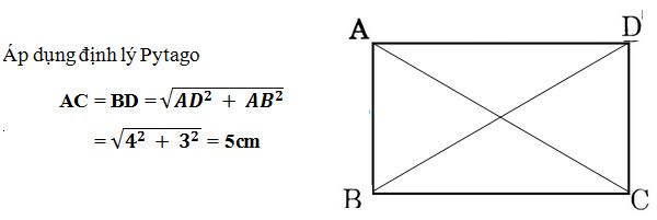 Cách tính đường chéo hình chữ nhật khi biết độ dài 2 cạnh hoặc diện tích, chu vi 3