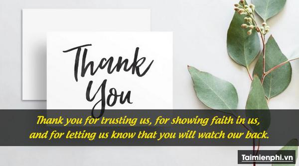 Lời cảm ơn khách hàng hay và sâu sắc 3