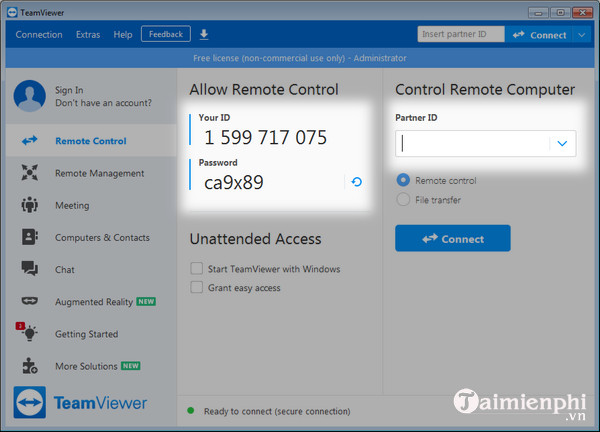 cach cai teamviewer 15 mien phi