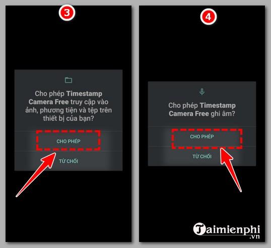 Cách chụp ảnh có ngày giờ trên Android